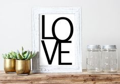 Love Printable Wedding Decor Romantic Poster by HearMeRoarQuotes