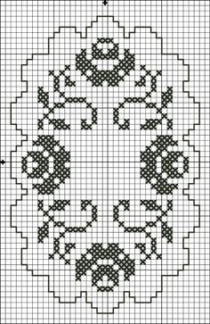 Hobilerim ve ben: 2019 Cross Stitch Rose, Cross Stitch Borders, Cross Stitch Flowers, Cross Stitch Designs, Cross Stitching, Cross Stitch Patterns, Crochet Lace Edging, Crochet Motifs, Crochet Doilies