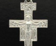 Crucifixo Bizantino de São Damião Prata 950. www.marciojoalheiros.com.br