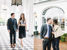 The entryway at Lowndes Grove Plantation // January engagement session // Rainy day engagement photos // Aaron and Jillian Photography » Husband and Wife International Engagement & Wedding Photographers based in Charleston, South Carolina.