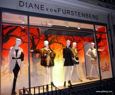 The autumn window display for diane von furstenberg store is designed with Architecture Art Nouveau, Display Design, Display Ideas, Shop Window Displays, Coffee Design, Shop Interior Design, Design Furniture, Wall Signs, Diane Von Furstenberg