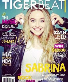 Sabrina Carpenter's dad posted this photo recently of his daughter on the cover of TigerBeat magazine. Everyone will be able to read about the Disney starle