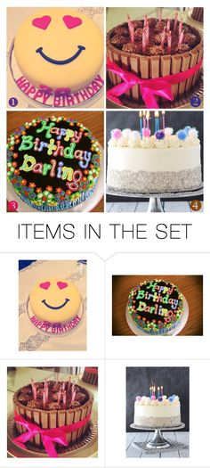 """""""[ ♡ ] your birthday cake"""" by baileys-preferences ❤ liked on Polyvore featuring art"""