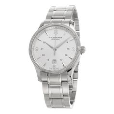 Swiss Army Men's 241712.1 'Alliance' Silver Dial Stainless Steel Swiss Quartz Watch