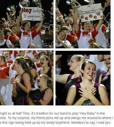Awwww I would cry if someone in my band did this for mw - New Ideas - - Marching Band Couples, Marching Band Memes, High School Dance, School Dances, Prom Couples, Cute Couples, Cute Relationships, Cute Relationship Goals, Cute Homecoming Proposals