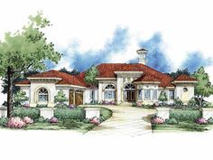 Italianate House Plan with 3993 Square Feet and 5 Bedrooms from Dream Home Source   House Plan Code DHSW42227