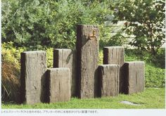 railway sleeper water feature - Google Search