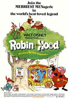 Original poster from the theatrical release of Robin Hood in 1973. My favorite Disney movie ever!! In love with Robin Hood always!