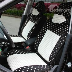 Cute Round Dot Style High Quality Pretty Seat Cover #car #seatcover #cute Live a better life start with @bedding inn