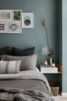 Skandinavisches Bedroom color Design –Minimalismus trifft Funktionalität - Trendomat.com