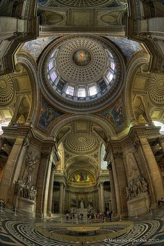 Paris Pantheon 02 by Maurizio Fontana Unique Architecture, Classical Architecture, Architecture Photo, Paris Travel, France Travel, Basilica San Pedro, Pantheon Paris, Tour Eiffel, Places To Go