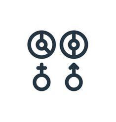 Gender icon gender editable stroke gender linear vector