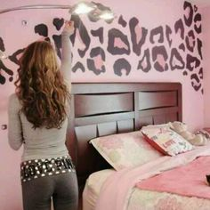 cheetah wall! i wanna do this