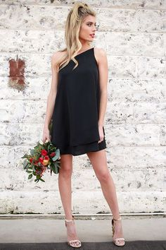 Move With Me Tunic Dress in Black