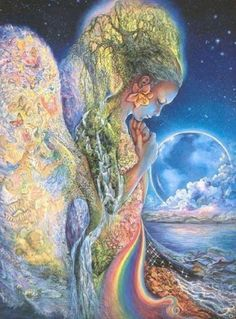 What is Gaia? The word Gaia comes from Ancient Greek which means land or earth. Gaia is the mother of all gods. Josephine Wall, Earth Goddess, Goddess Art, Moon Goddess, Art Expo, Mother Goddess, Heroes Of Olympus, Visionary Art, Gods And Goddesses