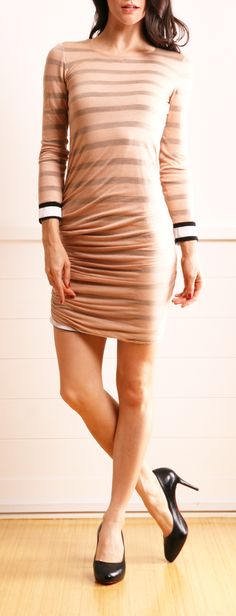 A.L.C. Long Sleeve Striped Dress