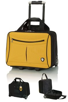 New Lamborghini Yellow and Black Trolley Case 8028236682a1d
