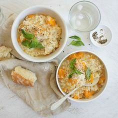 #RecipeoftheDay: Baked Pumpkin and Bacon Risotto by zendiva