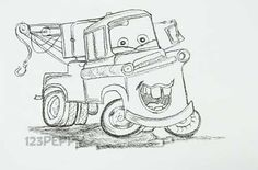 drawing of cartoon Mator   Mater coloring pages ...