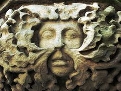 Green Man -- derbyshire greenman church carving stone gargoyle green stoneface man foliage derby