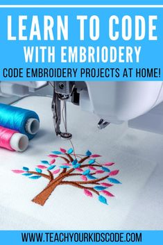 Now you can learn to code and create beautiful embroidery at the same time! Learn how to program your own embroidery designs with turtlestitch. Turtlestitch uses block-based coding to let you draw and create amazing embroidery patterns with basic coding concepts. Read our turtlestitch tutorial here. Educational Activities For Kids, Hands On Activities, Craft Activities For Kids, Stem Activities, Teaching Kids To Code, Kids Learning, Early Learning, Cool Science Experiments, Science Lessons