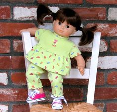 Sweets for the Sweet - American Girl Bitty Baby Twin Doll Clothes top and pants