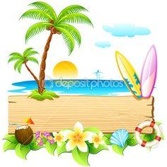 Playa del mar — Ilustración de stock #6014692