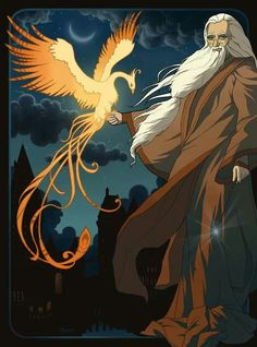 Epic Dumbledore With Fawkes The Phoenix