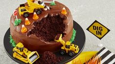 January: Construction Site Cake