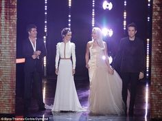 Pulling out all the stops: On Saturday night's live X Factor show, judges Cheryl Fernanez-...