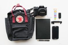 A few of the things I always, always, always take with me to the studio. Kanken Mini | Perfect...