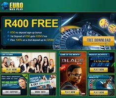 Online Casino Bonus, Live Casino, Casino Games, Euro, African, Free