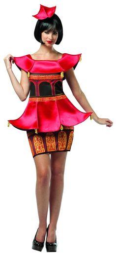 Asian Pagoda Costume Dress Adult