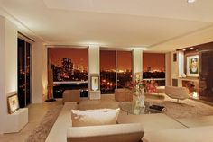 Living Room South Night View
