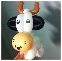 Cow balloon animal! Very cute.