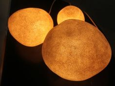 Set of rock lamps by Andre Cazanave, made by Roland Jamois