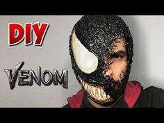 Máscara Venom Haloween Mask, Venom Halloween Costume, Mens Halloween Makeup, Venom Costume, Mascaras Halloween, Amazing Halloween Makeup, Halloween Make Up, Halloween Couples, Halloween Dress