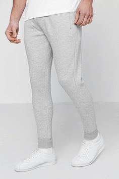 GBP - Boohoo Mens Skinny Fit Jogger With Contrast Waistband Mens Joggers Sweatpants, Fitted Joggers, Drop Crotch, Famous Brands, Stylish Men, Skinny Fit, Boohoo, Lounge Wear, Fashion Forward
