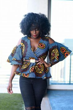 African fashion is available in a wide range of style and design. However, there is one strange thing among them all, they are all colorful. Whether it is men African fashion or women African fashion, you will notice. African American Fashion, African Inspired Fashion, African Print Fashion, Africa Fashion, African Blouses, African Tops, African Women, African Print Dresses, African Fashion Dresses