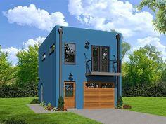 062G-0083: Modern 1-Car Garage Apartment Plan