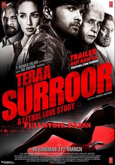 Tera Surroor Movie short story line: Watch Tera Surroor full movie online, Teraa Surroor is an upcoming bollywood movie 2016. Watch Teraa Surroor (2016) Movie Free online, The film directed by Shawn Arranha and produced by Sonia Kapoor and Viping...  to tags: TERAA  Surroor  is  An  upcoming  bollywood  movie  2016.