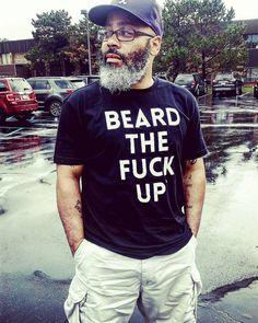 Beard  t-shirt pose  love it!  #GrayBeardGang #GrayBeard #BrothasYourGrayHairIsBeautiful @Regrann from @traveling_bruh  #BEardLEGENDARY #thebeardstruggle  #SaltAndPepper #BeardPorn #OurGrayHairIsBeautiful  #PapaSmurf #thebeardlove #FuelTheBeard #blackmenwithbeards #readventures #reathegal #readagal