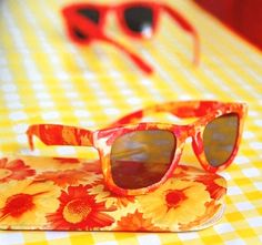 Decopatch or decoupage your glasses, sunglasses or glass case.