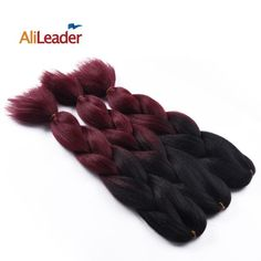 AliLeader Brand Xpressions Braiding Hair Extensions 1Pcs/Lot, 100G Ombre Kanekalon Synthetic Hair Three/Two Tone Yaki Straight