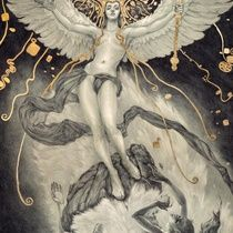 Ascent of Man and the Destruction of Magic - Art Print by Rebecca Yanovskaya