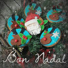 Papa Noel y renos