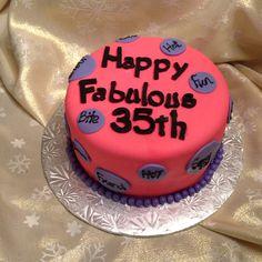 35th diva cake