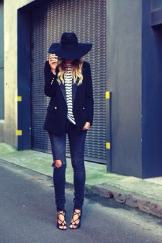 Elle Ferguson from 'They All Hate Us' rocking the lack of color montana midnight muse hat - yep definite must have for splendour!