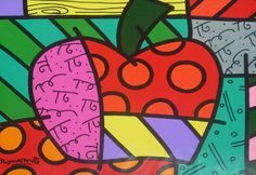 Romero Britto Apple. I know one of my begining of the year projects for next year!