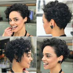 10 einfache Pixie Haircut Styles & Farbideen, Trendy kurze Frisuren für Frauen, Easy Pixie Haircut Trends , Kurze Frisuren Curly Pixie Haircuts, Pixie Haircut Styles, Short Curly Pixie, Curly Hair Cuts, Short Hair Cuts, Curly Hair Styles, Hairstyles Haircuts, Pixie Styles, Haircut Short